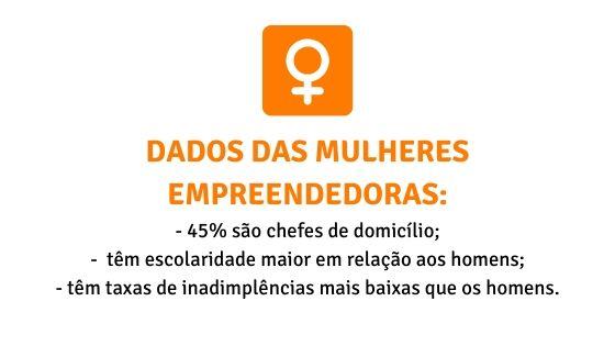 Dados das mulheres empreendedoras